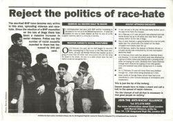 An Anti-Racist Alliance leaflet.
