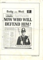 The front page of the Daily Mail from August 15, 1977 - two days after the Battle of Lewisham.
