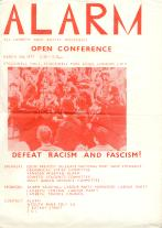 A poster from the All Lambeth Anti-Racist Movement (ALARM).
