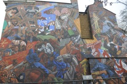 A mural on Cable Street depicting the 1936 Battle of Cable Street.
