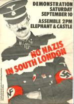 An Anti-Fascist poster from the South London Co-ordinating Committee.